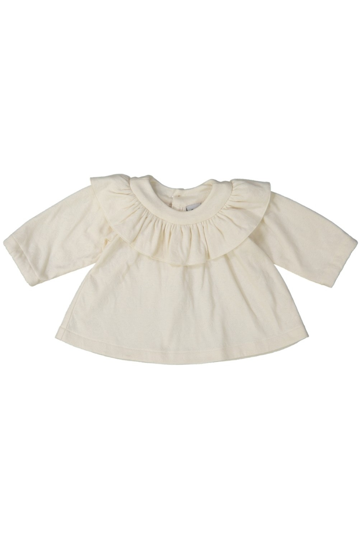 blouse bébé écrue coton biologique bouquet