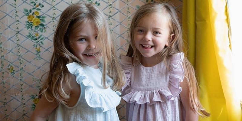 Chemises de nuit enfant fille en coton bio très doux - été / hiver