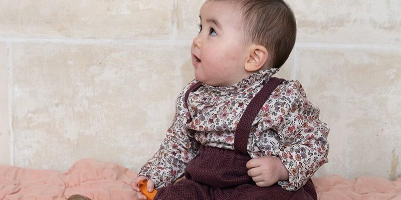 Vêtements 100% coton bio pour bebe fille 0-36 mois, par Risu-Risu