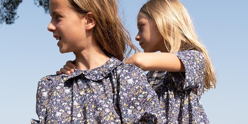 Blouses et chemises 100% coton bio pour enfant 0-12 ans