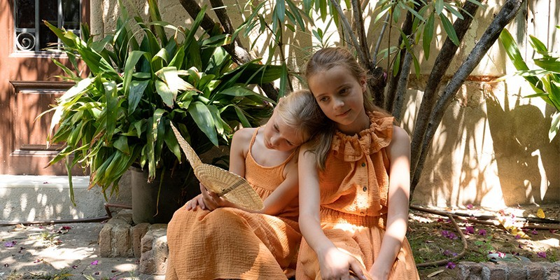 les robes et jupes filles risu risu en coton biologique certifié